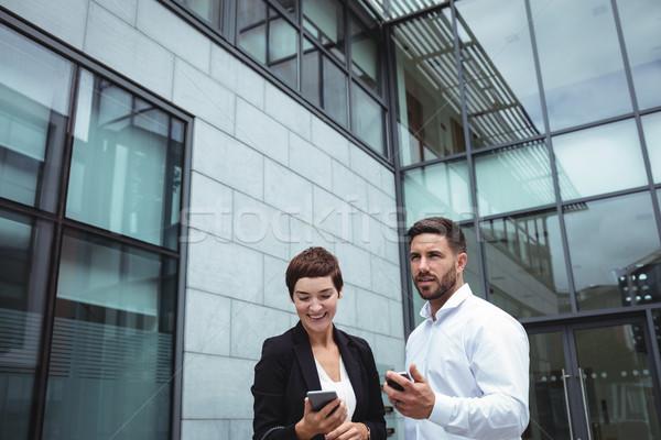 Telefone móvel escritório homem trabalhando corporativo Foto stock © wavebreak_media