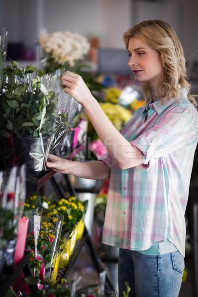 женщины флорист букет бизнеса женщину Сток-фото © wavebreak_media