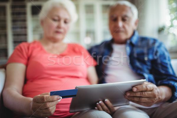Stok fotoğraf: Online · alışveriş · dijital · tablet · ev · Internet