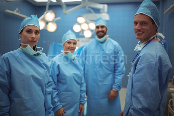 Stock fotó: Portré · sebészek · áll · operáció · színház · kórház
