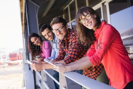 Portrait of friends having fun in campervan Stock photo © wavebreak_media