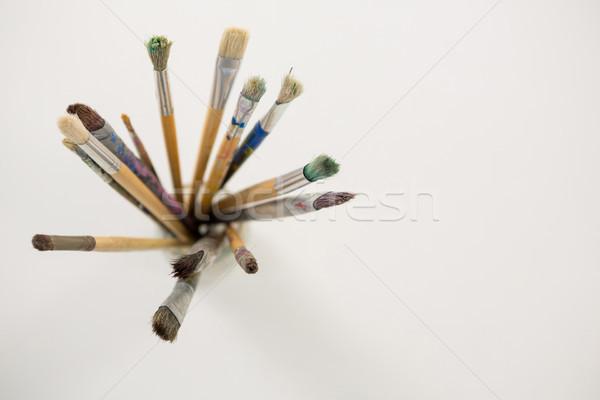 Penseel jar hout onderwijs leren Stockfoto © wavebreak_media