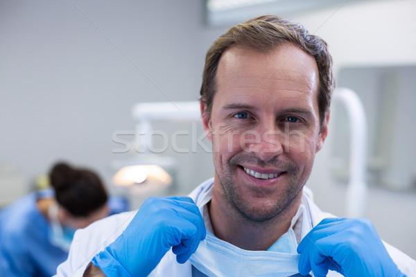 Retrato sorridente dentista homem feminino alegria Foto stock © wavebreak_media
