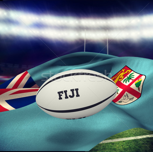 Composite image of fiji rugby ball Stock photo © wavebreak_media