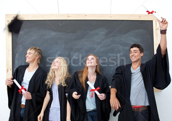 グループの人々  祝う 卒業 幸せ 少女 顔 ストックフォト © wavebreak_media