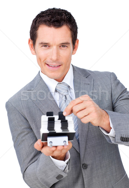 Assertive businessman searching for the index  Stock photo © wavebreak_media