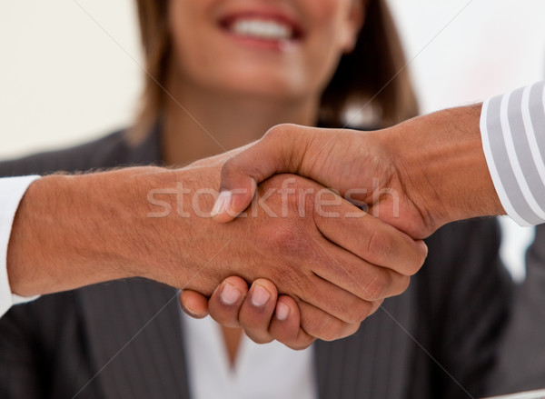 Primer plano exitoso empresarios acuerdo reunión Foto stock © wavebreak_media