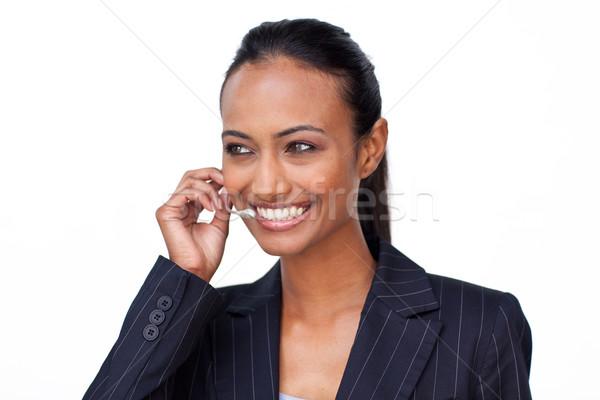 Indian woman talking on a headset Stock photo © wavebreak_media