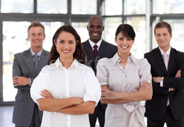 Zespół firmy biuro tle biznesmen grupy garnitur Zdjęcia stock © wavebreak_media
