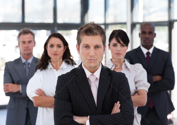 Portré boldog üzleti csapat néz kamera iroda Stock fotó © wavebreak_media