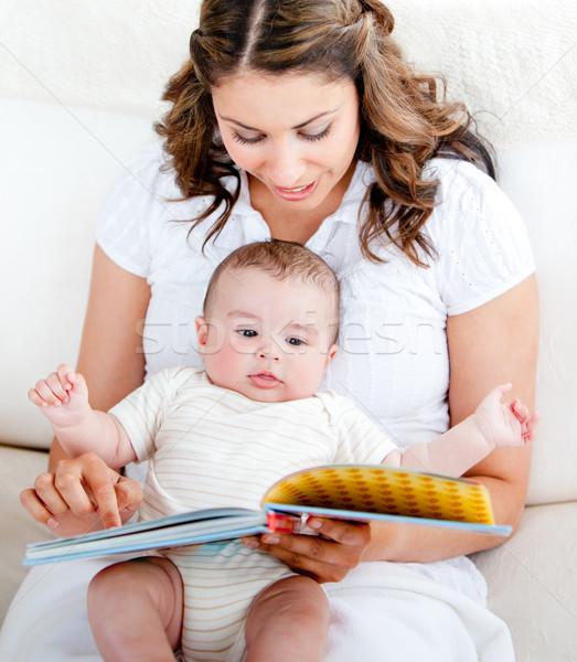 Seven anne okuma öykü çok güzel bebek Stok fotoğraf © wavebreak_media