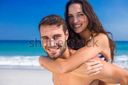 Kobieta broni plaży szczęśliwy model lata Zdjęcia stock © wavebreak_media