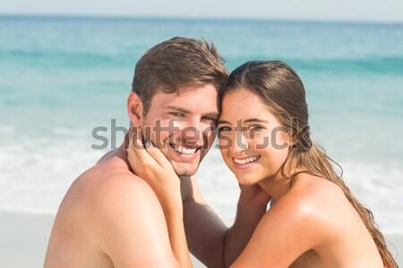 Donna fidanzato spiaggia uomo estate vita Foto d'archivio © wavebreak_media