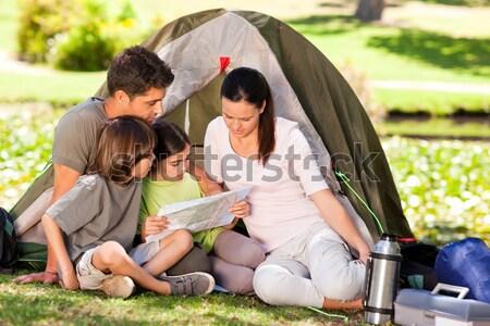 Family camping in the park Stock photo © wavebreak_media