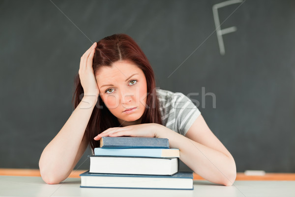 Stockfoto: Triest · jonge · student · slechte · klas