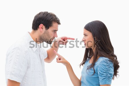 Man offering a necklace to his wife against a white background Stock photo © wavebreak_media