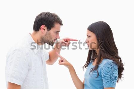 Uomo offrendo collana moglie uomo bianco bianco Foto d'archivio © wavebreak_media
