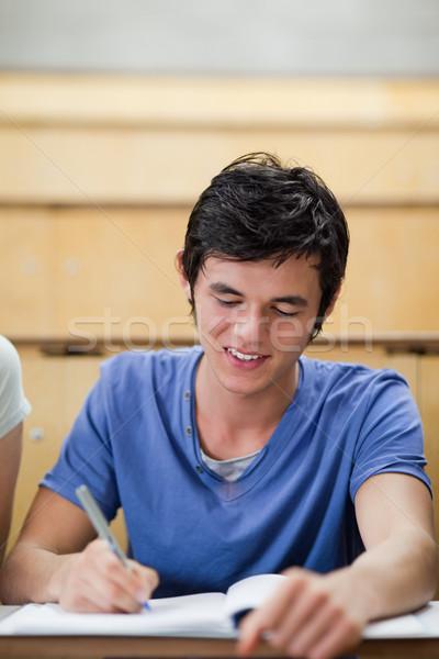 Portre yakışıklı genç öğrenci amfitiyatro Stok fotoğraf © wavebreak_media