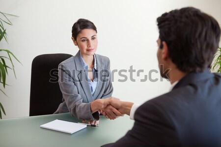 Menedzser jól kinéző pályázó iroda üzlet megbeszélés Stock fotó © wavebreak_media