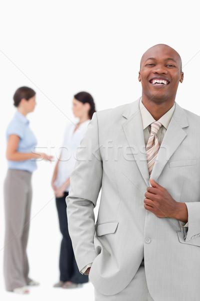 笑い セールスマン 同僚 後ろ 白 ビジネス ストックフォト © wavebreak_media