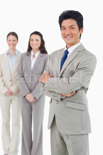 улыбаясь бизнесмен за белый бизнеса Сток-фото © wavebreak_media