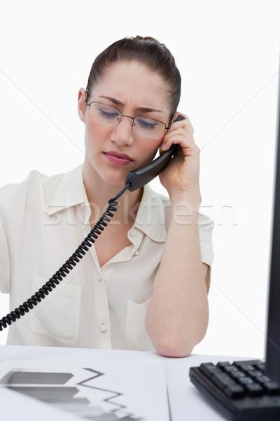 Portret jonge manager telefoongesprek naar Stockfoto © wavebreak_media