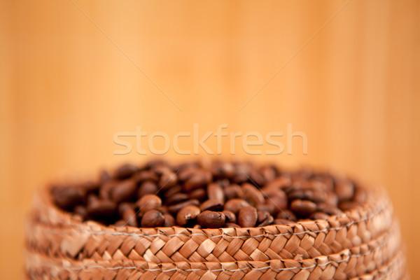 Topo cesta completo café sementes Foto stock © wavebreak_media