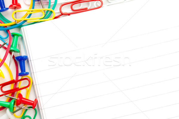 Jegyzettömb nagyobb csoport irodaszer fehér üzlet csoport Stock fotó © wavebreak_media
