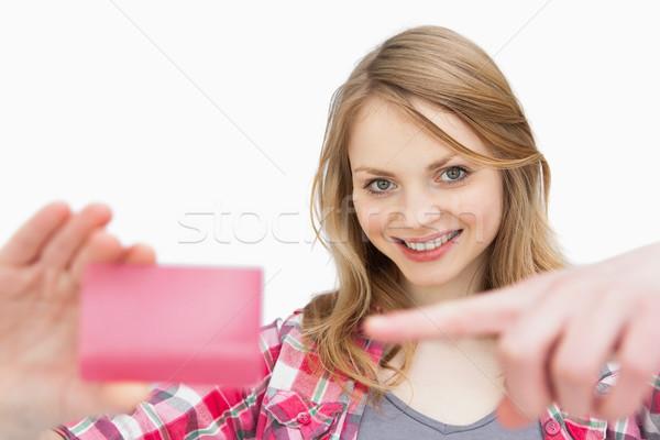 Mujer lealtad tarjeta blanco Foto stock © wavebreak_media
