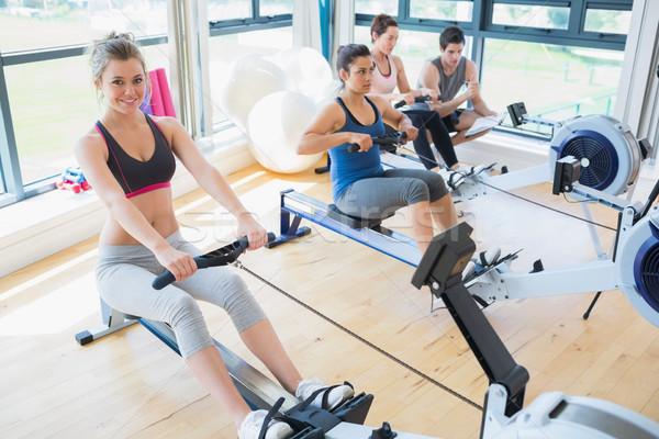 люди сидят машина спортзал спорт Сток-фото © wavebreak_media