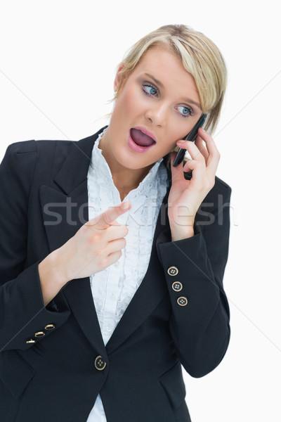 Businesswoman on the phone having heated discussion Stock photo © wavebreak_media