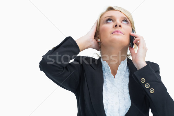 Frustrated businesswoman on phone Stock photo © wavebreak_media
