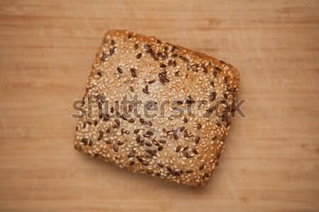 Pão tabela comida fresco saudável Foto stock © wavebreak_media