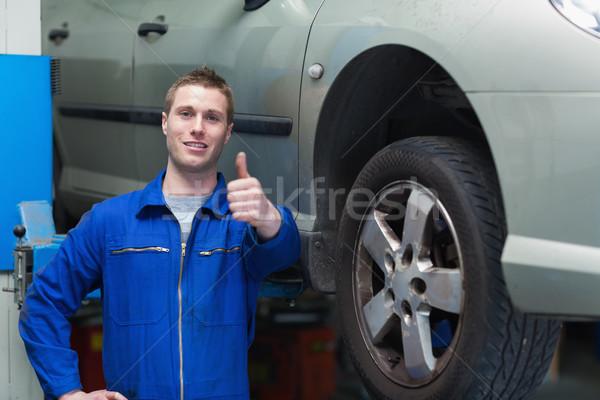 Mechanik samochodu portret mężczyzna Zdjęcia stock © wavebreak_media