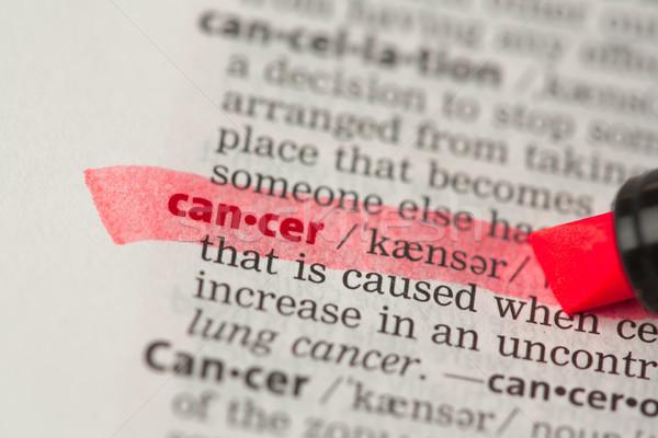 Сток-фото: рак · определение · красный · словарь · здоровья · медицина