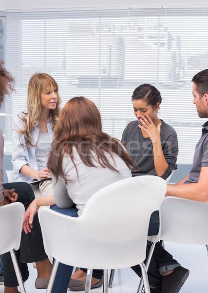セラピスト リスニング 女性 オフィス 会議 グループ ストックフォト © wavebreak_media