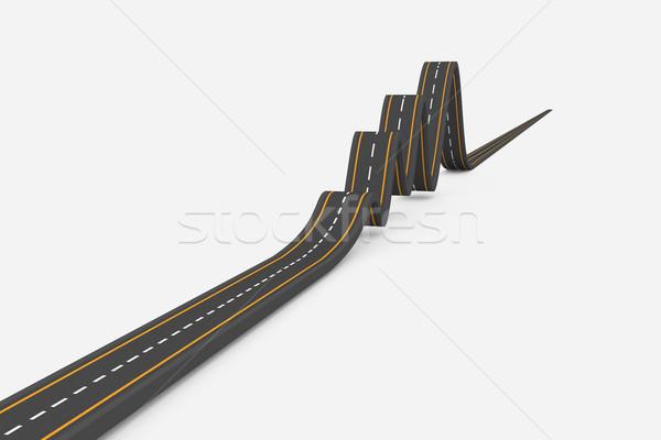 Drogowego biały autostrady cyfrowe białe tło Zdjęcia stock © wavebreak_media