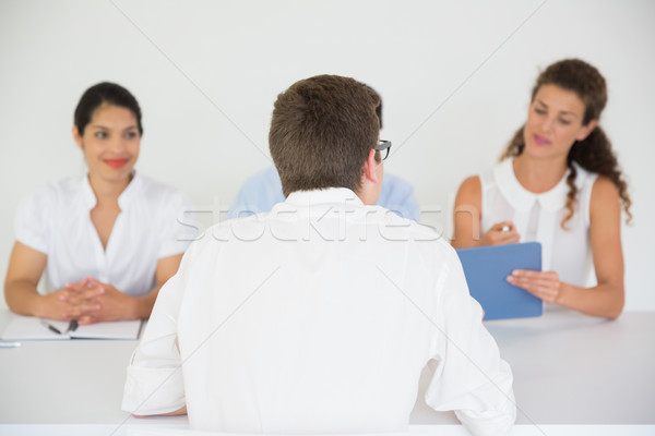 Man being interviewed by business people Stock photo © wavebreak_media