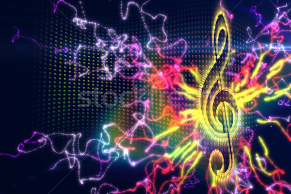 Digitally generated music background Stock photo © wavebreak_media