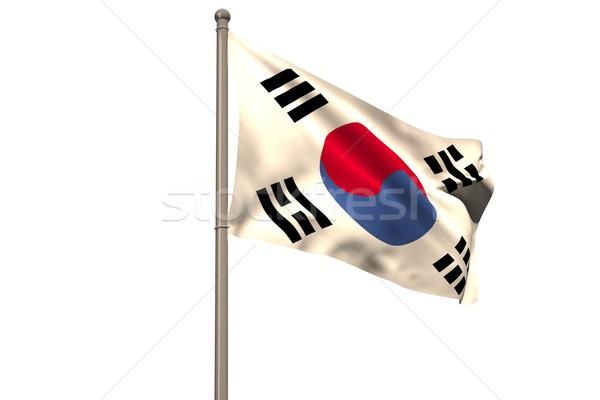 Digitálisan generált zászló fehér Stock fotó © wavebreak_media