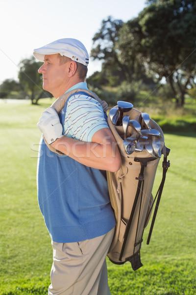 ゴルファー 立って ゴルフバッグ ゴルフコース ストックフォト © wavebreak_media