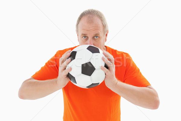 Nerwowy piłka nożna fan piłka biały Zdjęcia stock © wavebreak_media