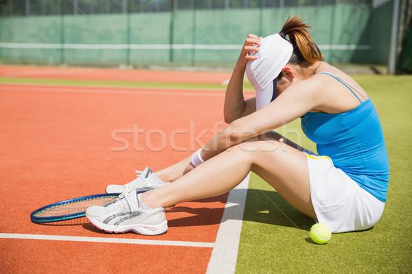 動揺 座って 裁判所 スポーツ ストックフォト © wavebreak_media