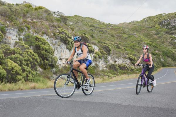 Athletic couple mountain biking Stock photo © wavebreak_media