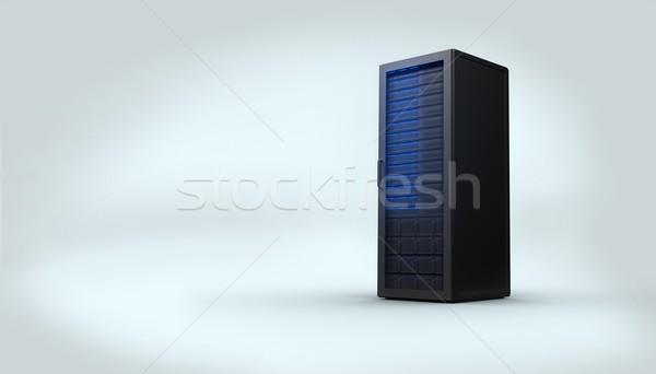 Digitalmente gerado preto servidor torre branco Foto stock © wavebreak_media