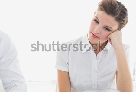 üzletasszony néz fáradt munka csapat női Stock fotó © wavebreak_media