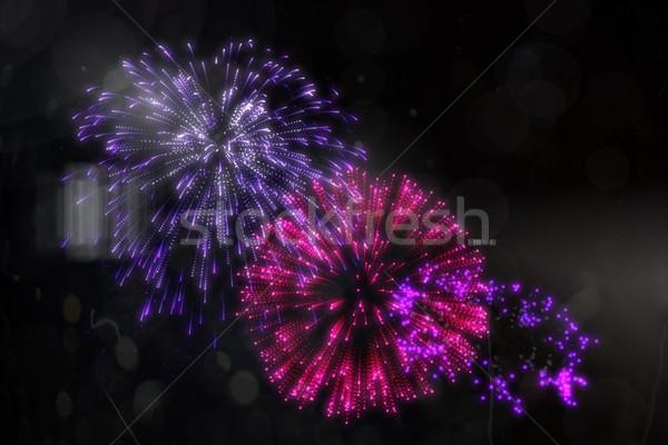 Colorido fuegos artificiales negro digitalmente generado Foto stock © wavebreak_media