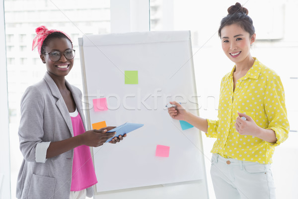 Young creative women brainstorming together Stock photo © wavebreak_media