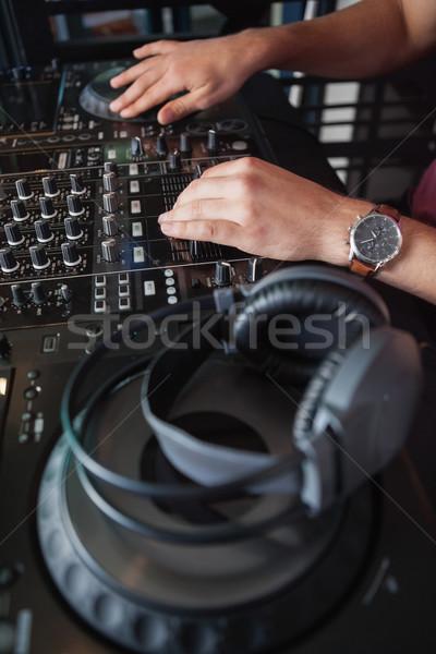 Hände Musik Party bar Nacht Stock foto © wavebreak_media