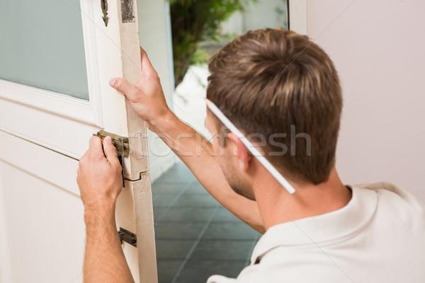 человека отвертка дома карандашом Сток-фото © wavebreak_media